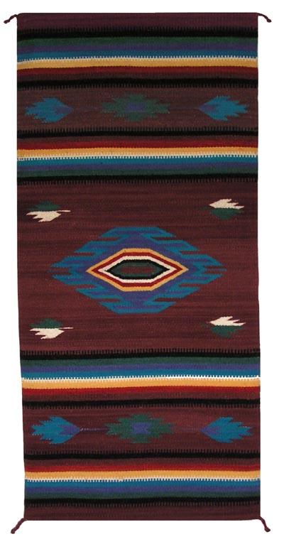 Zt1024 Mexican Zapotec Navajo Rug Replica