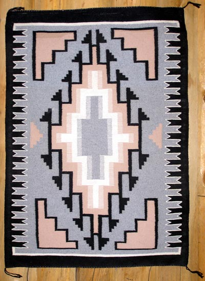 Two Grey Hills Navajo Rugs